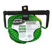 Rave Sport Ski and Tow Rope 70' 3 Section Wakeboard Kneeboard with EVA Swirl Grip Elite, GREEN