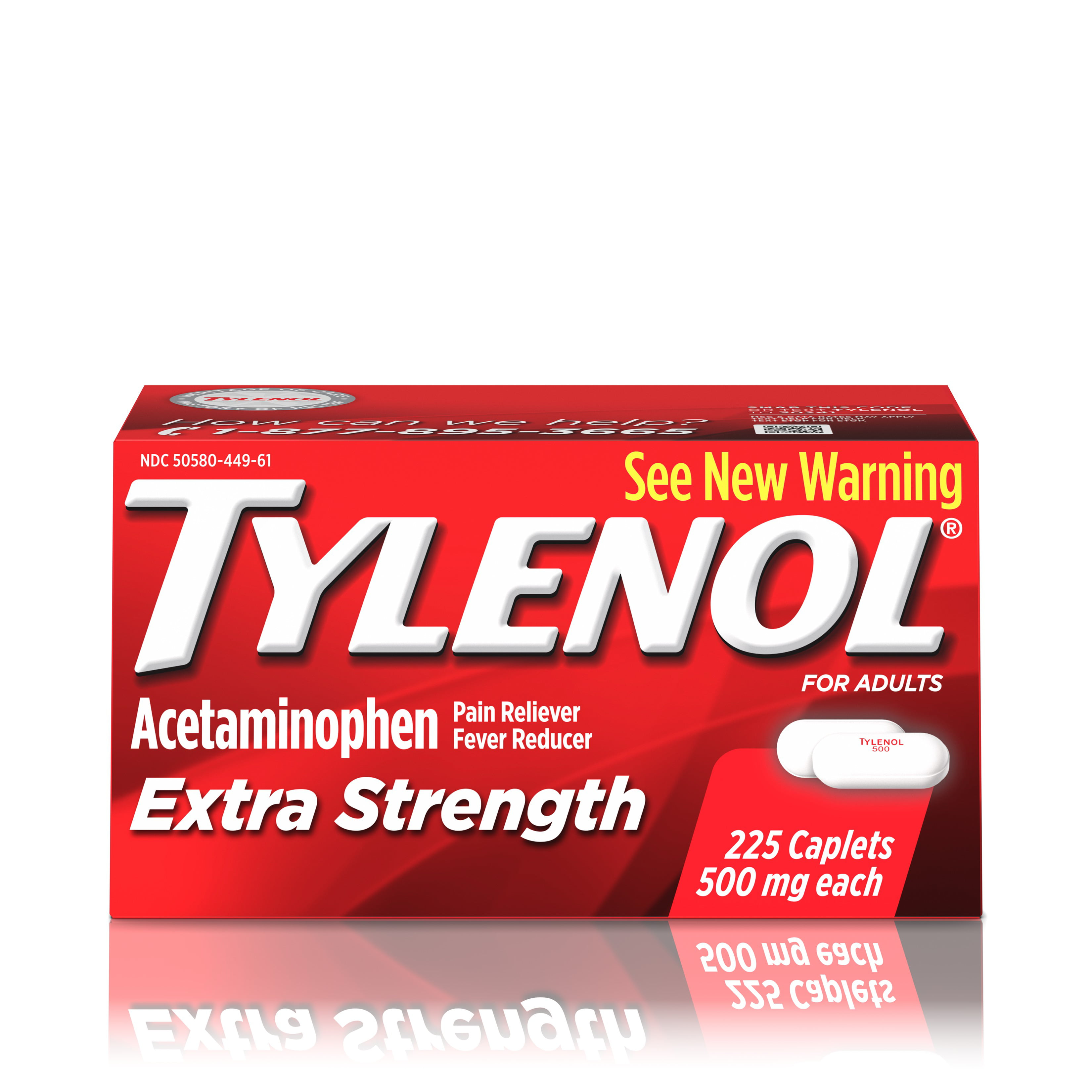 TYLENOL® Extra Strength Caplets, Fever Reducer and Pain Reliever, 500 mg, 225 ct.
