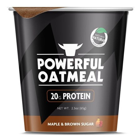 Powerful Yogurt Maple & Brown Sugar Oatmeal 2.2 oz Cups - Pack of 6 ...
