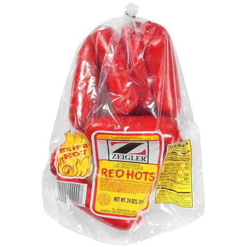 Zeigler: Imitation Sausage Red Hots, 24 Oz