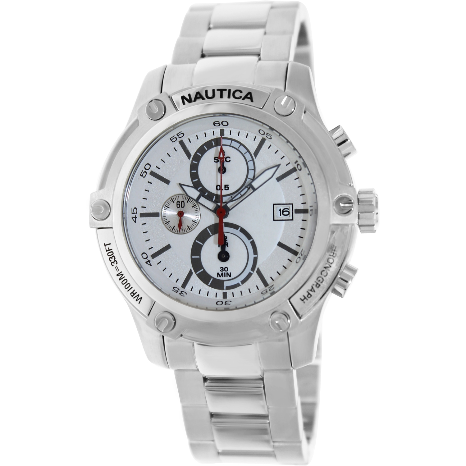 Nautica Men's Nst 05 A20058G Silver Stainless-Steel Quartz Watch by Nautica