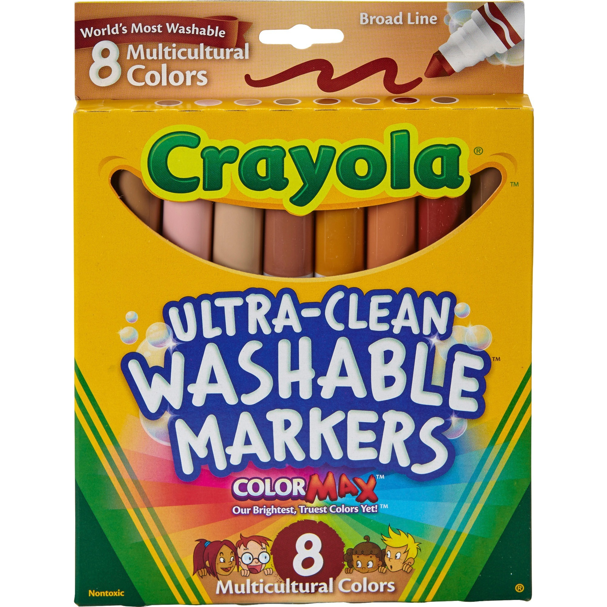 Crayola Multicultural Washable Markers, 8 Count
