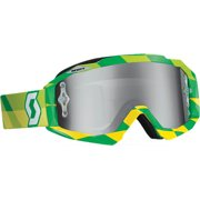Scott USA Hustle Track MX/Offroad Goggles Green/Silver Chrome Lens