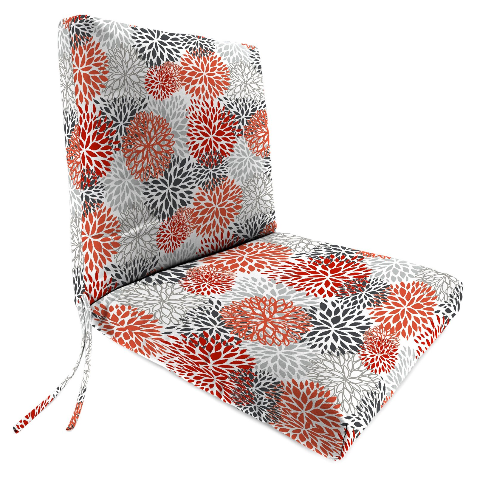 Jordan Manufacturing 44 in. Hinged French Edge Outdoor Bloom Chair Cushion