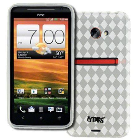 - EMPIRE HTC EVO 4G LTE Poly Skin Case Cover (Clear Diamond Pattern) [EMPIRE Packaging]