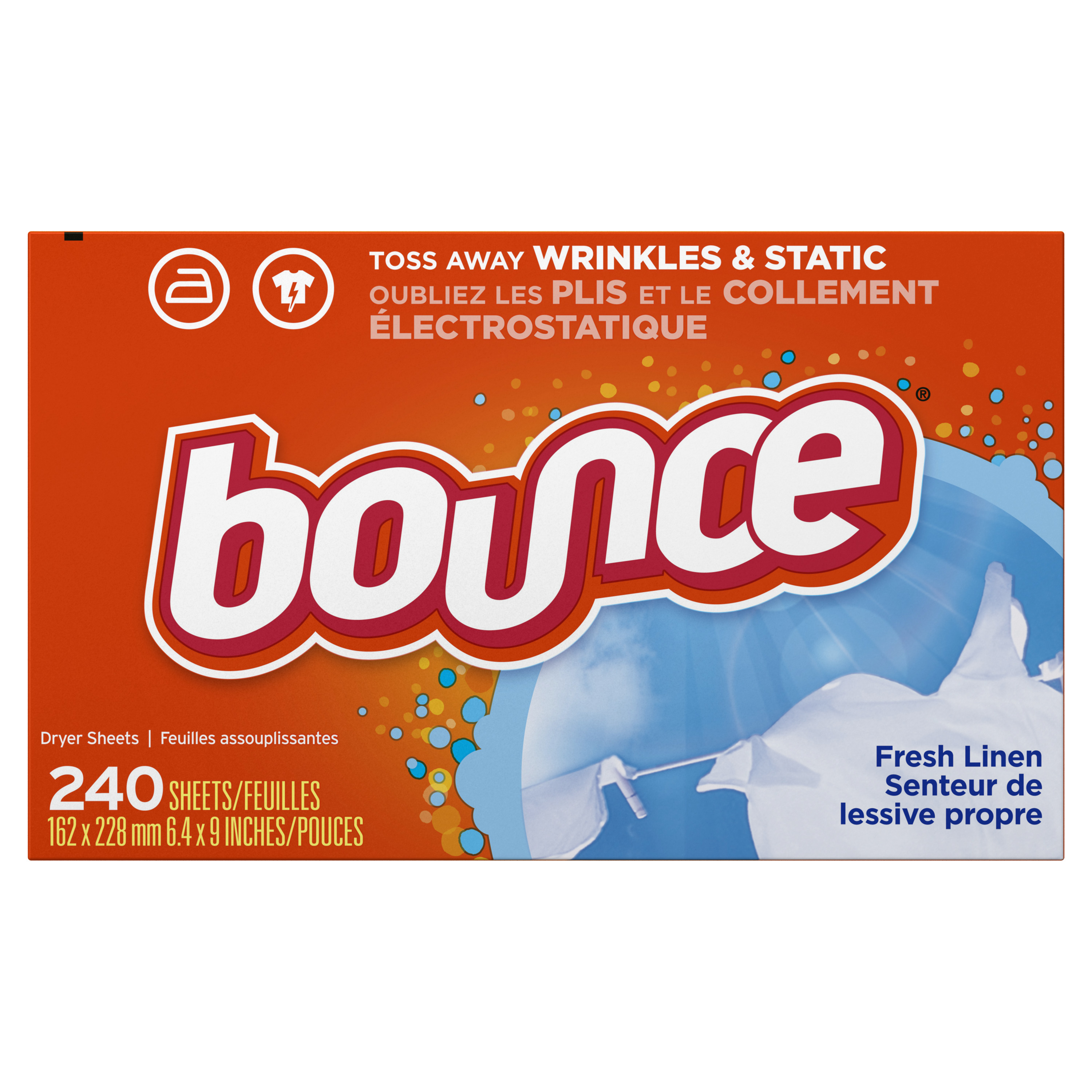 Bounce Fresh Linen Fabric Softener Dryer Sheets, 240 count