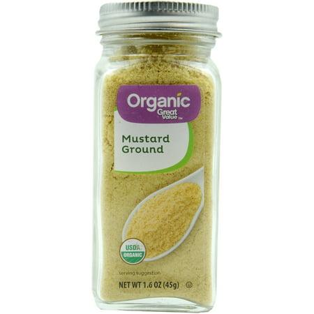 (2 Pack) Great Value Organic Mustard Ground, 1.6 oz
