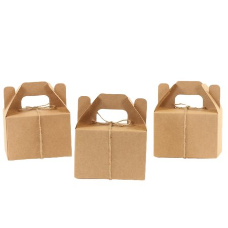 Koyal Wholesale Kraft Gable Boxes with Handle, Twine String Included, 4 x 2.5 x 4.75-inch, Bulk 36-Pack Count, Food Safe](Gable Boxes Wholesale)