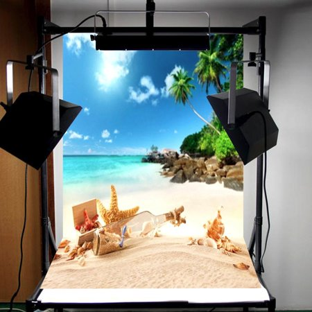3x5ft Vinyl Summer Beach Scene Backdrop Photography Photo Background For Studio Prop