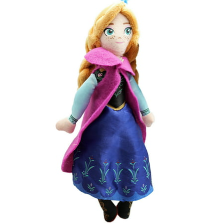 Anna Top - Disney's Frozen Anna Small Kids Plush Toy With Secret Pocket (8in)