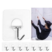 Strong Transparent Suction Cup Sucker Wall Hooks Hanger For Kitchen Bathroom 8pc