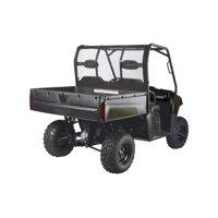 Classic Accessories QuadGear UTV Rear Windshield, Fits Polaris Ranger 6x6 800, 800 Full Size, Crew 800, Crew Diesel (2015 models and older), Black