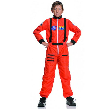 Orange Astronaut Jumpsuit Child Costume for $<!---->