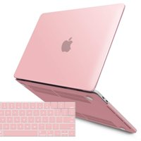 iBenzer MacBook Pro 13 Inch Case 2018 2017 2016 Release A1989 A1706 A1708, Soft Touch Hard Case Shell Cover for Apple MacBook Pro 13.3 with/Without Touch Bar, Rose Quartz, MMP13T-RQ+1