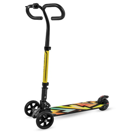 SWAGTRON® Cali Drift Three-Wheel Electric Scooter - Throttle, Handbrakes, and 15.5MPH Max Speed 3 Wheel Electric Scooter