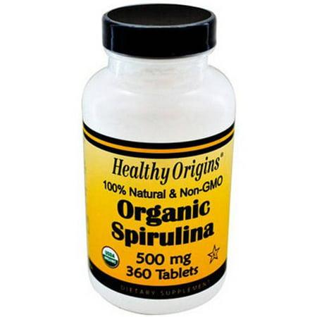 Healthy Origins biologique et casher spiruline comprimés, 360 CT