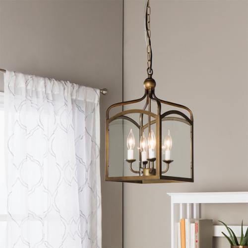 Ashley Bronze 4-light Foyer Hanging Lantern (Antique Copper, 4-light, Hanging Lantern)