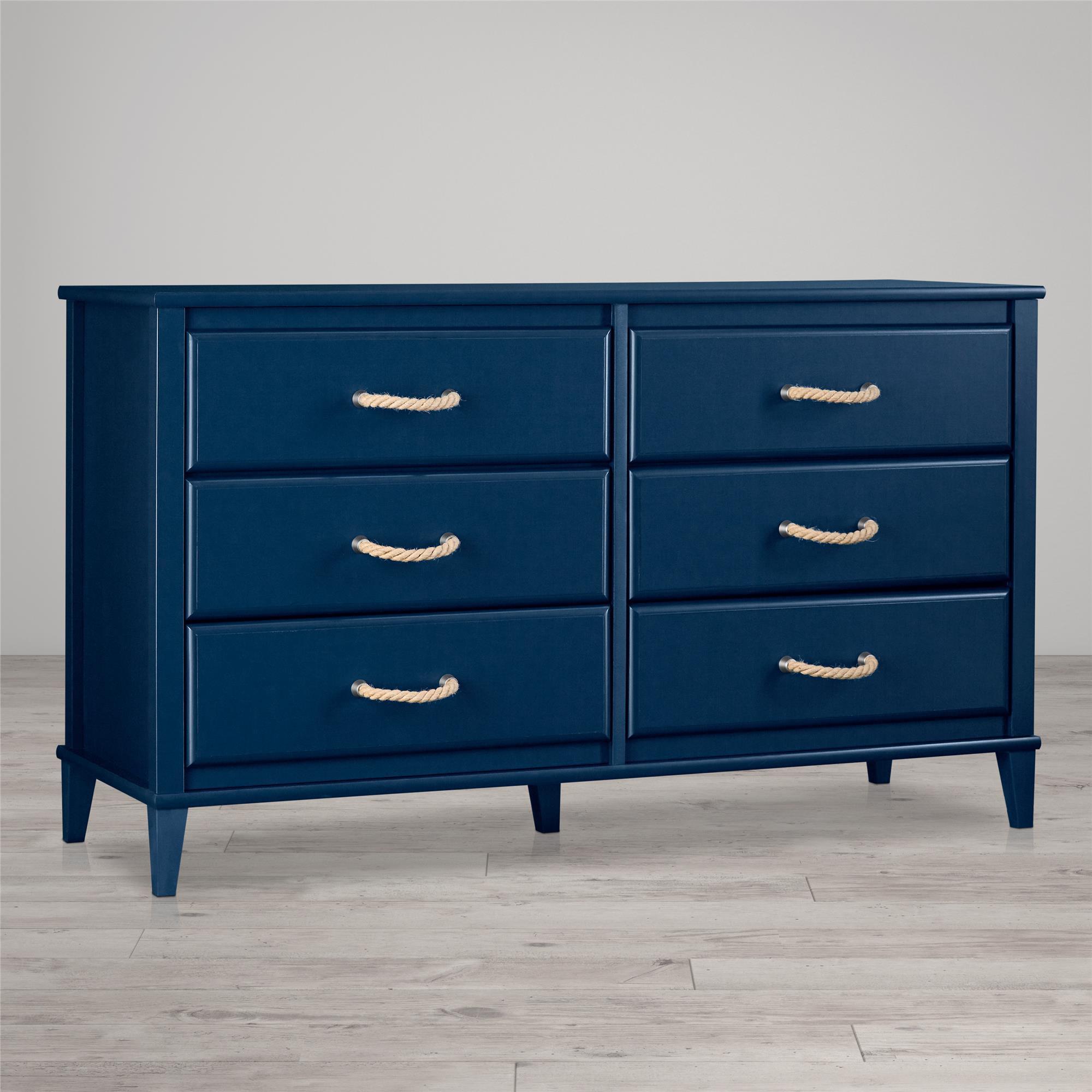 Little Seeds Sierra Ridge Mesa 6 Drawer Dresser, Blue