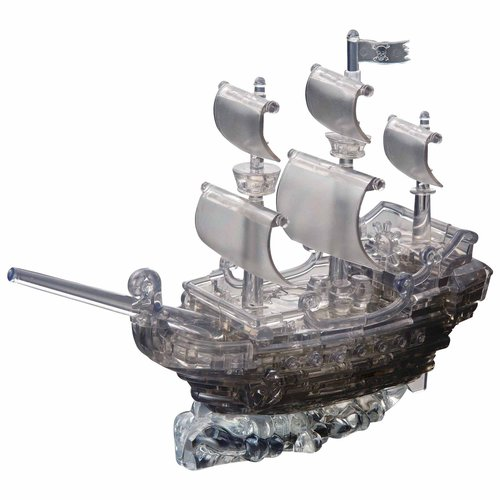 Deluxe 3D Crystal Puzzle Black Pirate Ship by BePuzzled