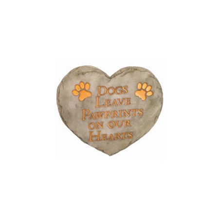 SPOONTIQUES 13237S 9 STEPPING STONE  DOGS PAWPRINTS ()