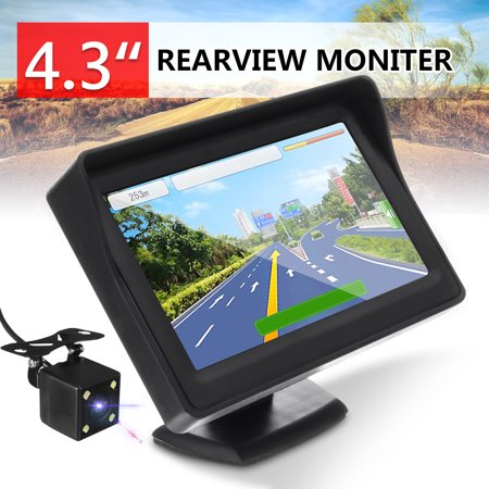 4.3 Inch TFT Car LCD Monitor Car Rear View Reverse Waterproof Night Vision Backup Camera (Backup Camera Kit)
