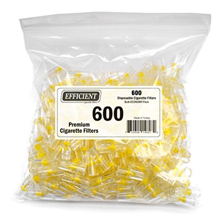 Efficient Disposable Cigarette Filters - Bulk Economy Pack (600 Per (Best Disposable Cigarette Filters)