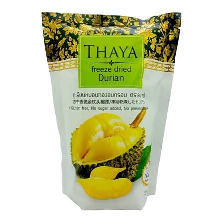 Freeze Dried Durian Monthong Premium 100% Natural 40 G by Thaya