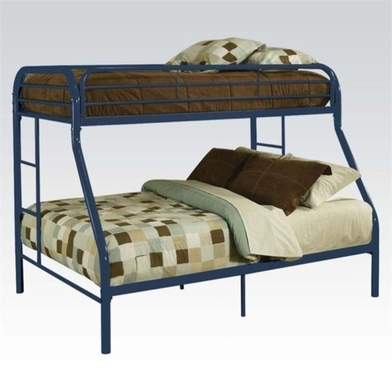 Rosebery Kids Twin Over Full Bunk Bed in Blue