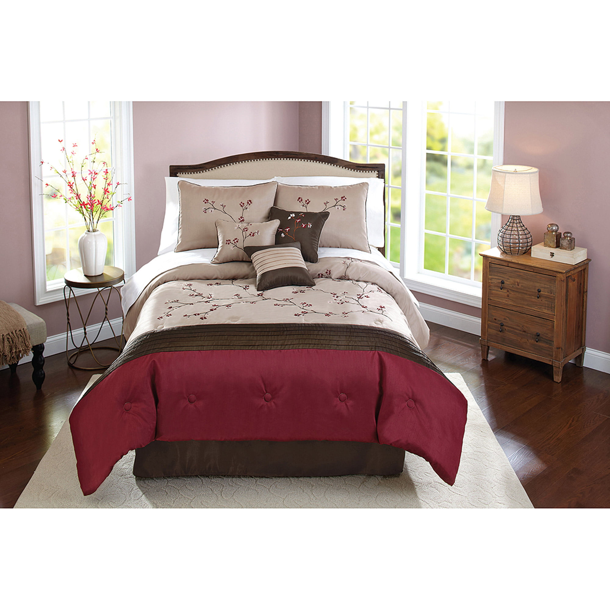 Better Homes and Gardens 7 Piece Therese Comforter Set Walmartcom