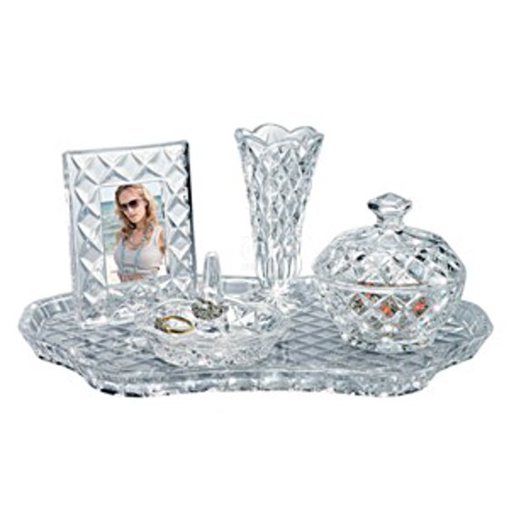 5 Piece 12 Quot Shannon Vanity D 233 Cor Non Leaded Crystal Set