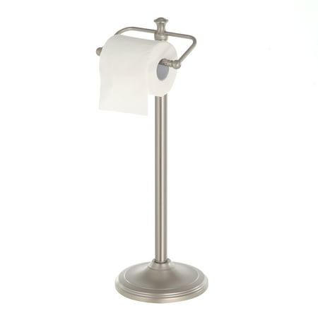 Better Homes and Garden Satin Nickel Standing Toilet Paper Holder