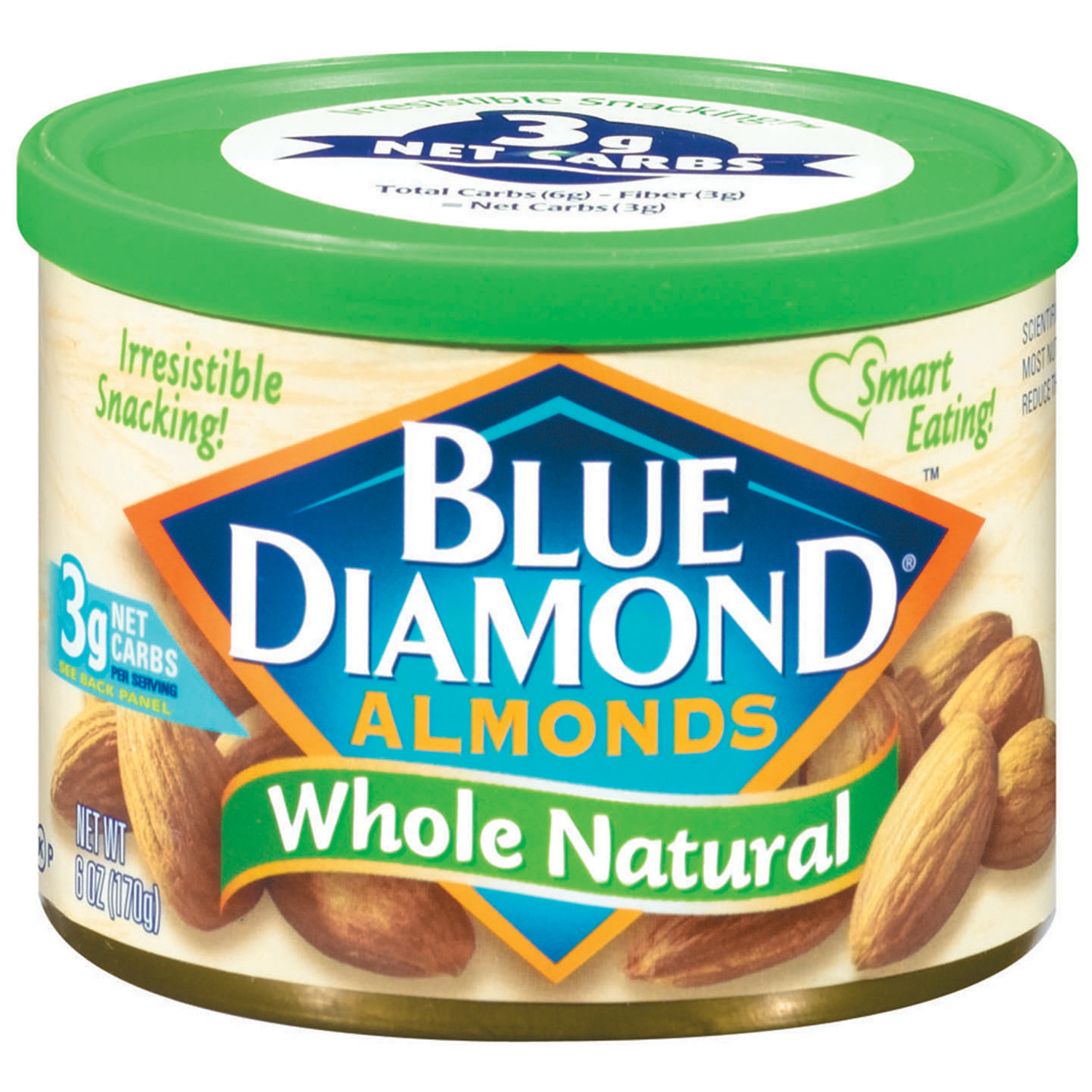 Blue Diamond�� Whole Natural Almonds 6 oz. Canister