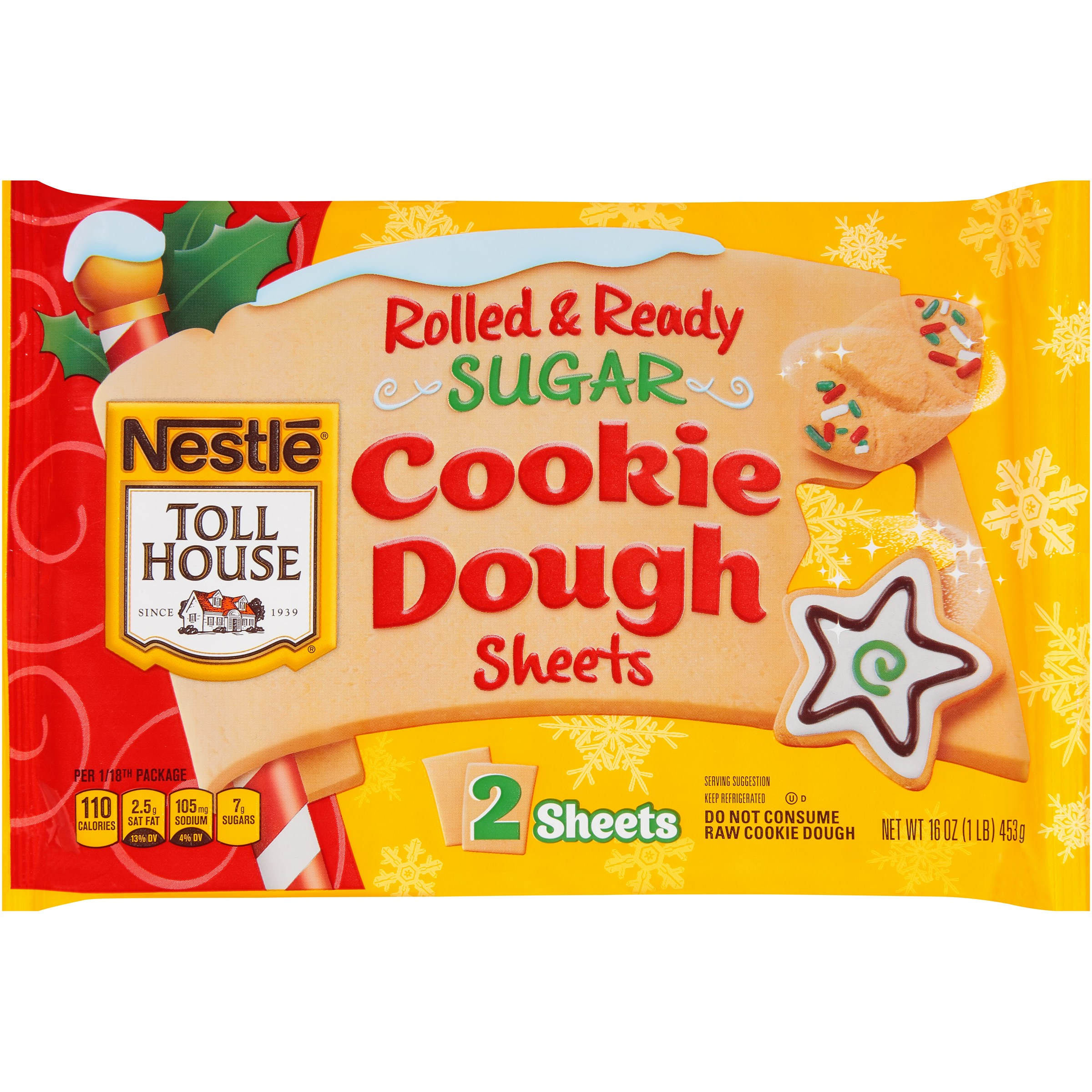Nestlé TOLL HOUSE Holiday Sugar Sheets Cookie Dough 16 oz. Sheet