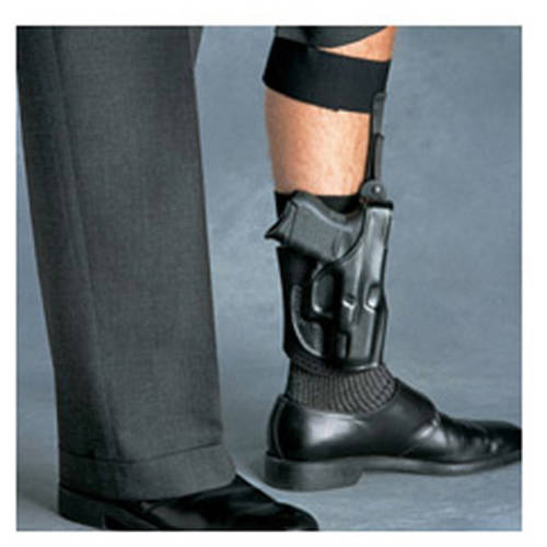 Galco Ankle Glove Ankle Holster, Fits Glock 42, Right Hand, Black