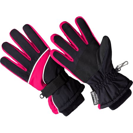 SK1007, Girls Premium Ski Glove, 3M Thinsulate Lined (One Size Fits (Girl First Communion Satin Gloves)