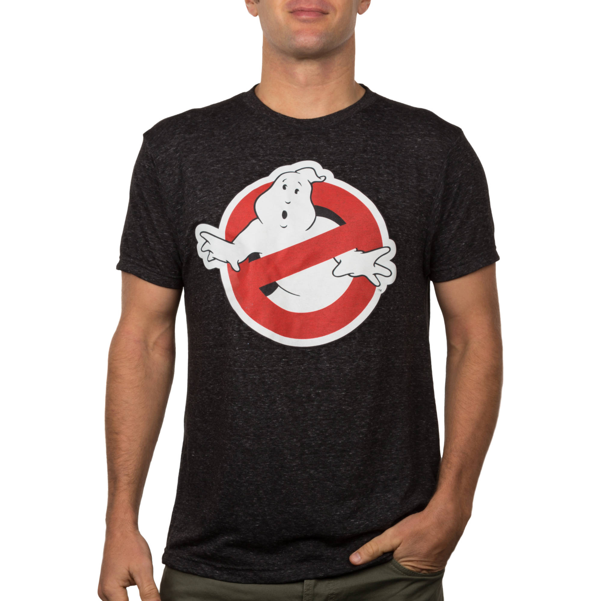 Ghostbusters No Ghost Men's Burnout Graphic Tee