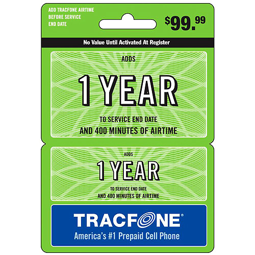(Email Delivery) Tracfone 1 Year Service + 400-Minutes Wireless Airtime Card