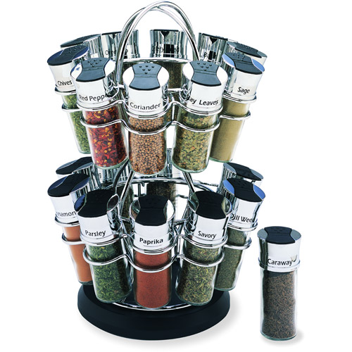 Olde Thompson 20-Jar Flower Revolving Spice Rack
