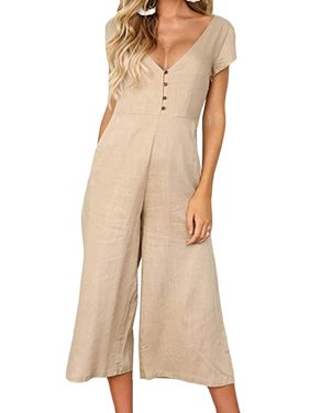 Multitrust Women Clubwear Holiday Bodysuit Jumpsuit Romper Chiffon Long Trousers