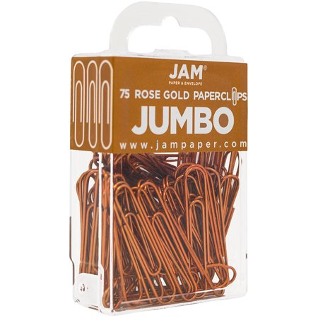 JAM PAPER Colorful Jumbo Paper Clips - Large 2 Inch (50.8 mm) - Rose Gold Paperclips - 75/Pack - image 4 of 4