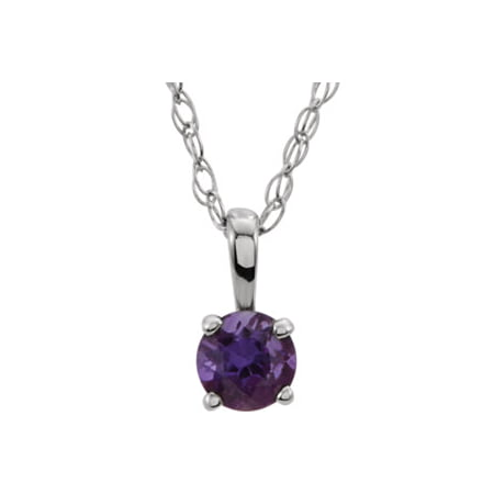 Jewels By Lux 14k White Gold Amethyst 14