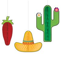 Fiesta Deluxe Honeycomb Decorations (3pc)