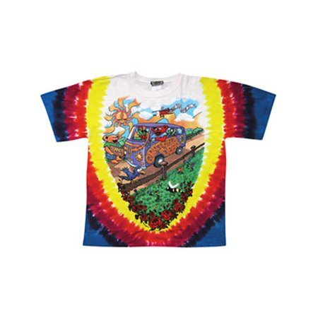 Grateful Dead Men's  Summer Tour Bus Tie Dye T-shirt