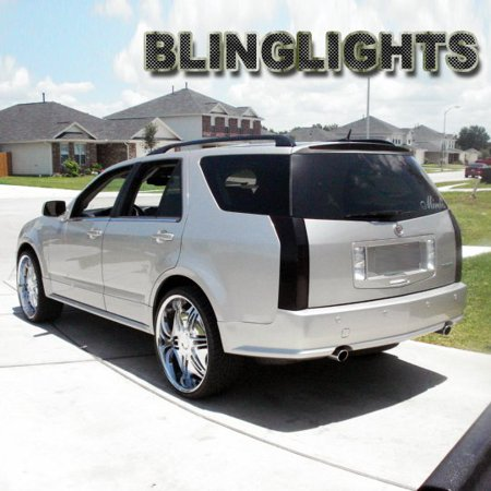 New 2004 2005 2006 2007 2008 2009 Cadillac SRX Tinted Smoked Taillamps  Taillights Overlays