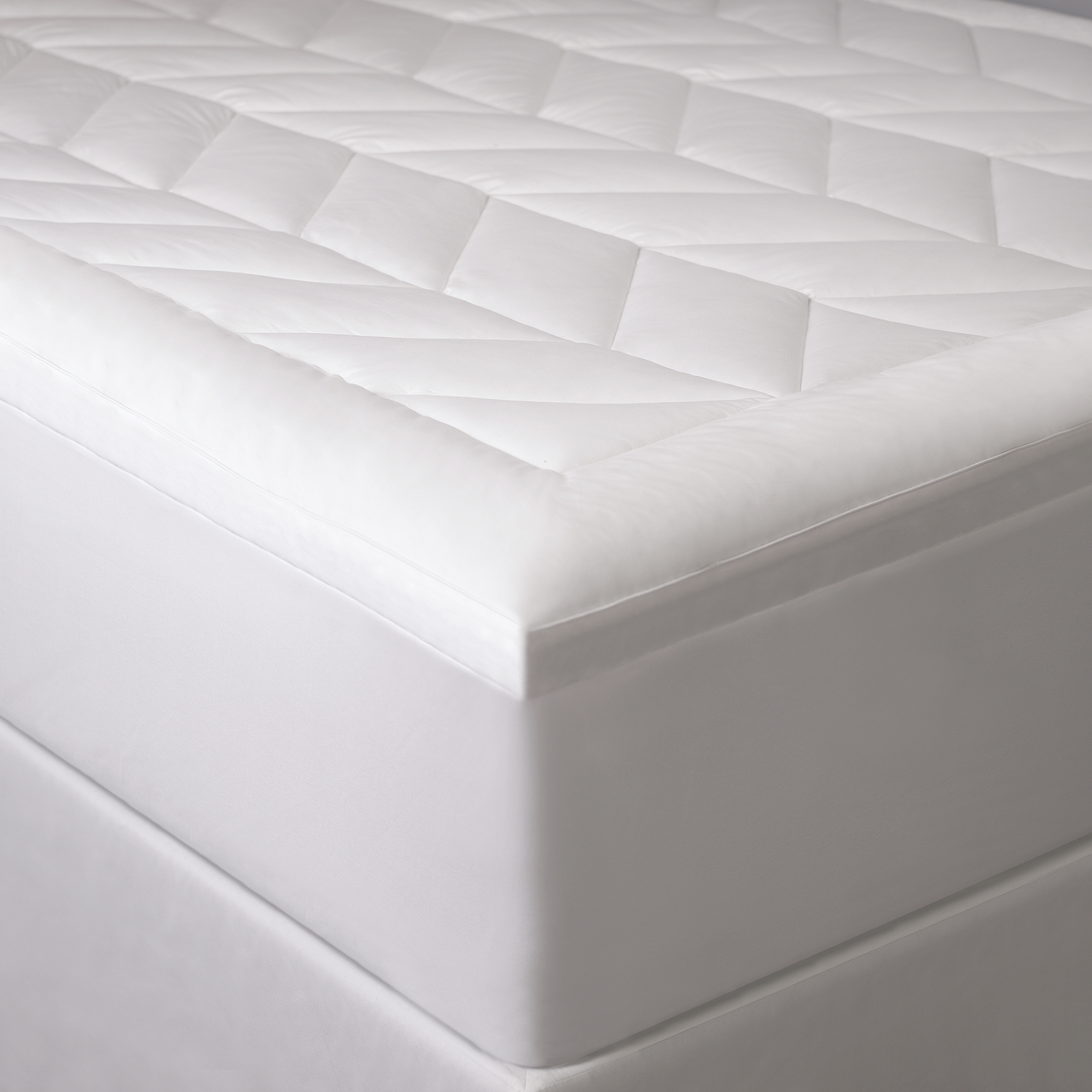 Ensign Chevron Quilted Mattress Pad- Queen by Allied Home