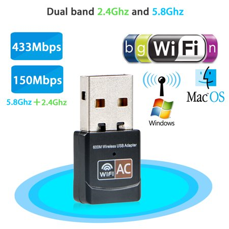 600Mbps Dual Band Mini Wireless 2 4GHz 5GHz USB WiFi Adapter USB Lan  Wireless Network 802 11ac/a/b/g/n Dongle