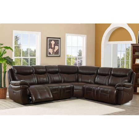 Top Grain Leather Power Reclining Sectional Sofa Hydeline Fraser ...
