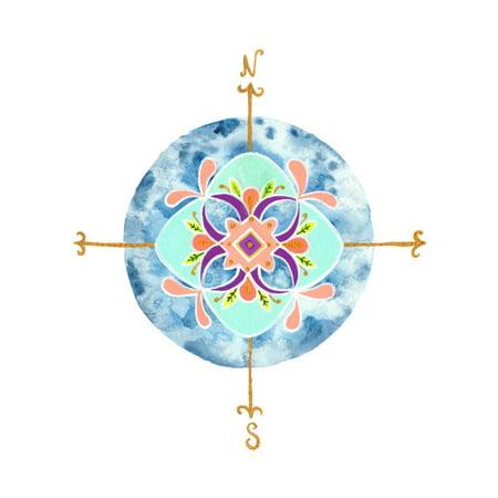 Blue Mandala II Print Wall Art By Rebekah