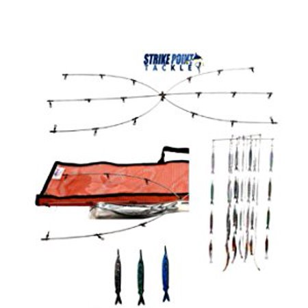 Strike Point Tackle 36'' Dredge & Teaser Kit Sardine Fish Strips ()
