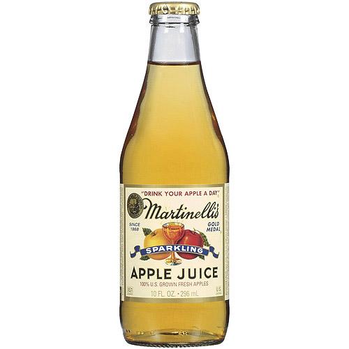 Martinelli's Gold Medal Sparkling Apple Juice, 10 oz (Pack of 12)